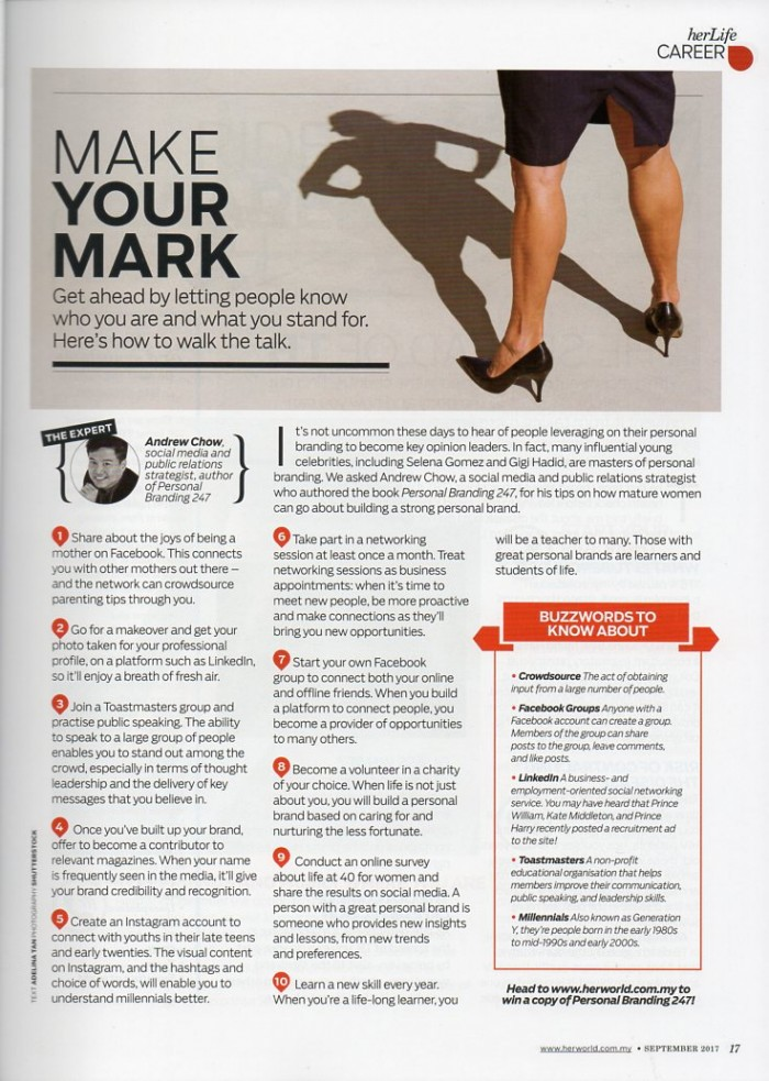 Tips by a client featured in magazine thumbnail